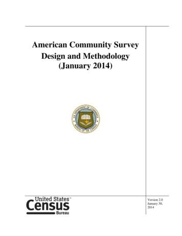American Community Survey Design and Methodology (January .