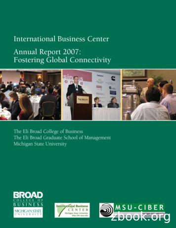 International Business Center Annual Report 2007 .