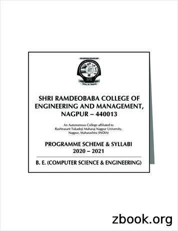 SHRI RAMDEOBABA COLLEGE OF ENGINEERING AND MANAGEMENT .