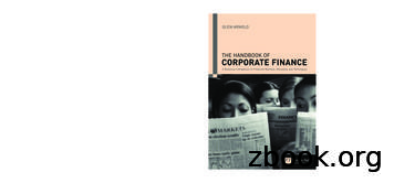 THE HANDBOOK OF CORPORATE FINANCE