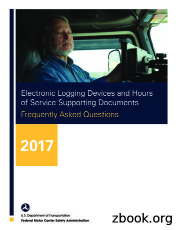Electronic Logging Devices and Hours of Service Supporting .