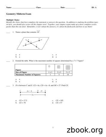 Geometry Midterm Exam - hssh math