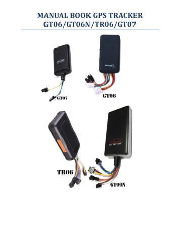 MANUAL BOOK GPS TRACKER GT06/GT06N/TR06/GT07