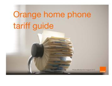 Orange home phone tariff guide