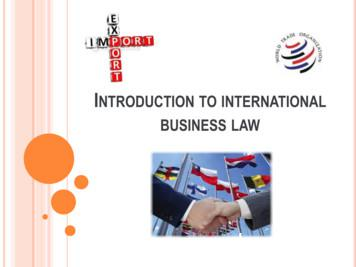 Introduction to international business law
