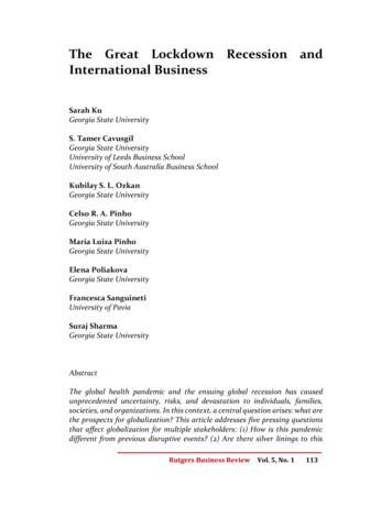 The Great Lockdown Recession and International Business