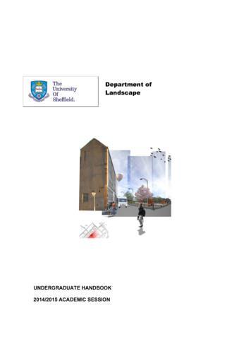 Department of Landscape - University of Sheffield