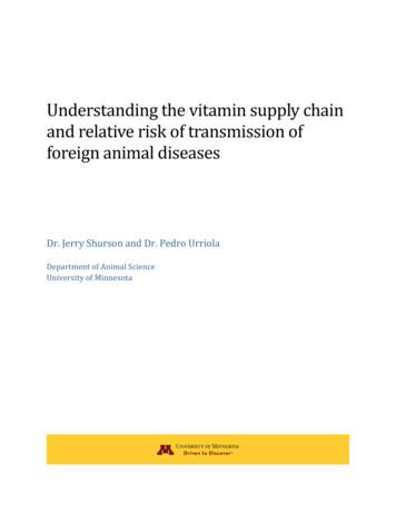 Understanding t he vitamin supply chain and relative risk .
