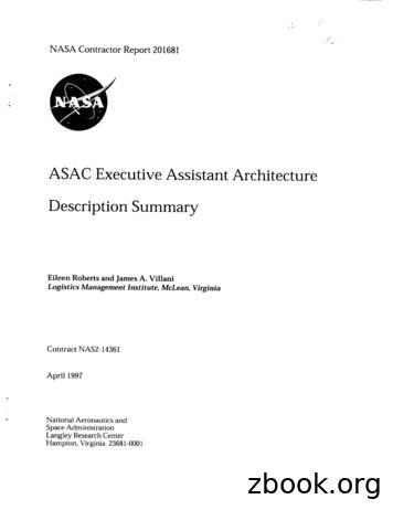ASAC Executive Assistant Architecture Description Summary