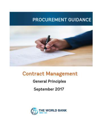 PROCUREMENT GUIDANCE - World Bank