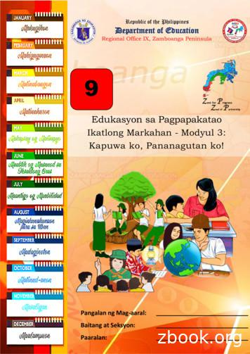 Ikatlong Markahan - Modyul 3: Kapuwa ko, Pananagutan ko!