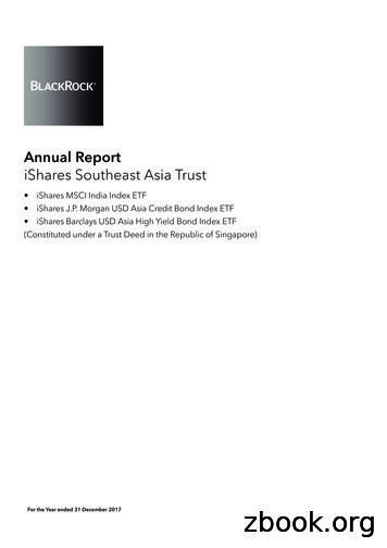 Annual Report iShares Southeast Asia Trust