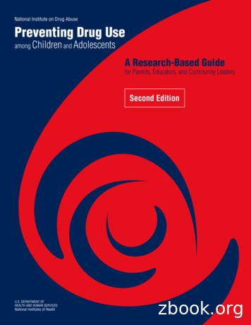 Preventing Drug Use Among Children and Adolescents (Redbook)