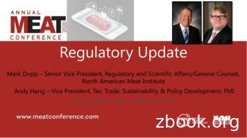 Regulatory Update - meatconference