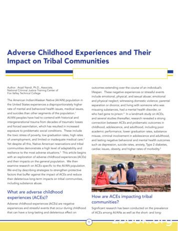 Adverse Childhood Experiences and Their Impact on Tribal .