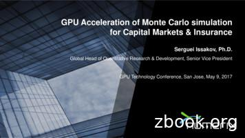 GPU Acceleration of Monte Carlo simulation for Capital .