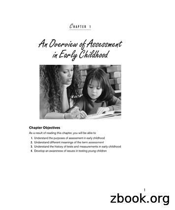 C HAPTER 1 An Overview of Assessment in Early Childhood