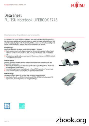Data Sheet FUJITSU Notebook LIFEBOOK E746