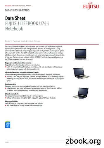 Data Sheet FUJITSU LIFEBOOK U745 Notebook