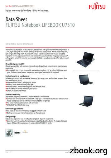 Data Sheet FUJITSU Notebook LIFEBOOK U7310