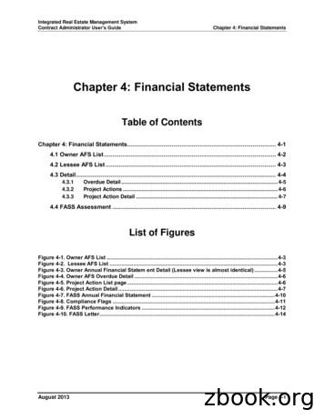 Chapter 4: Financial Statements - HUD.gov / U.S .