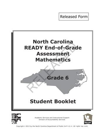 North Carolina READY End-of-Grade Assessment RELEASED
