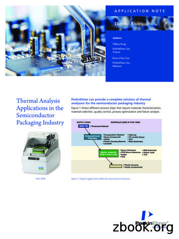 Thermal Analysis Applications in the Semiconductor .