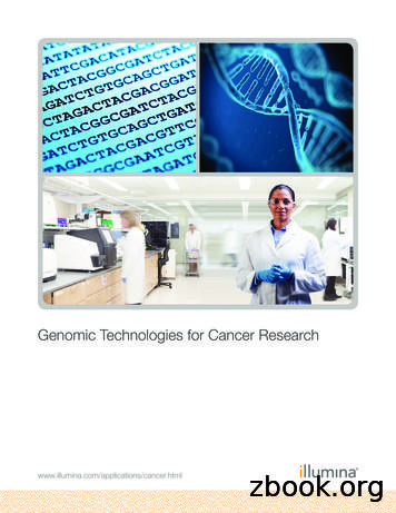 Genomic Technologies for Cancer Research