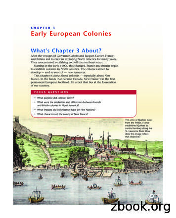 CHAPTER 3 Early European Colonies - Mr. Stahl