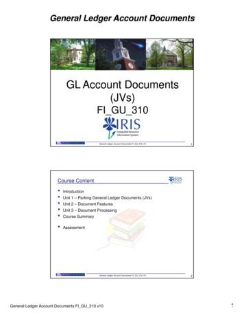 GL Account Documents (JVs)