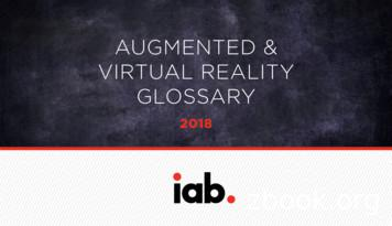 AUGMENTED & VIRTUAL REALITY GLOSSARY