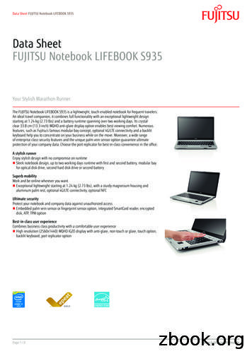 Data Sheet FUJITSU Notebook LIFEBOOK S935