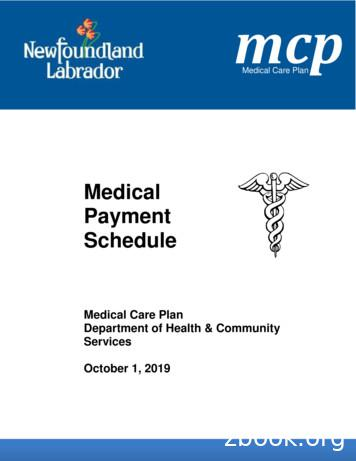 Medical Payment Schedule - Newfoundland and Labrador