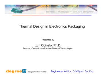 Thermal Design in Electronics Packaging