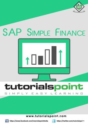 SAP Simple Finance - tutorialspoint