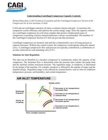 Understanding Centrifugal Compressor Capacity Controls