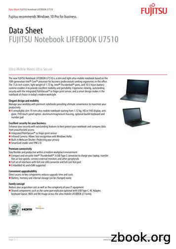 Data Sheet FUJITSU Notebook LIFEBOOK U7510