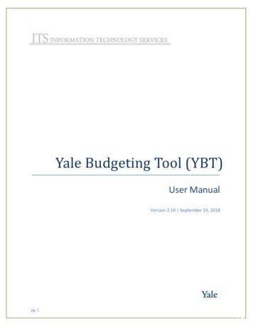 Yale Budgeting Tool (YBT)