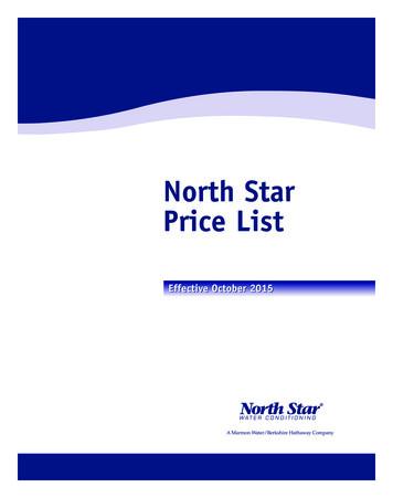 NorthStar PriceList