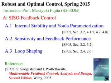 A: SISO Feedback Control A.1 Internal Stability and Youla .
