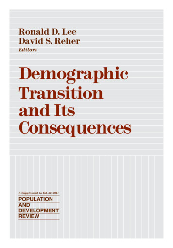 Demographic Transition and Its Consequences