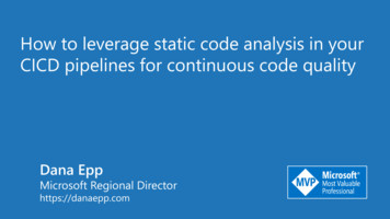 How to leverage static code analysis in your CICD .