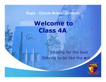 Welcome to Class 4A