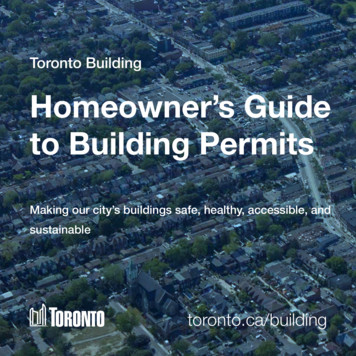 Toronto Building Homeowner's Guide to Building Permits