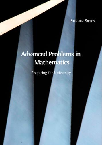 Advanced Problems in Mathematics - Colmanweb