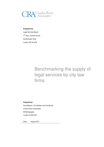 Benchmarking city law firms Final Report