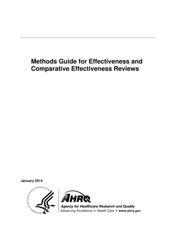 Methods Guide for Effectiveness and Comparative .