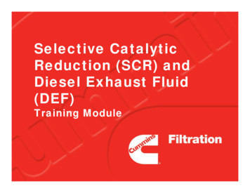 Selective Catalytic Reduction (SCR) and Diesel Exhaust .