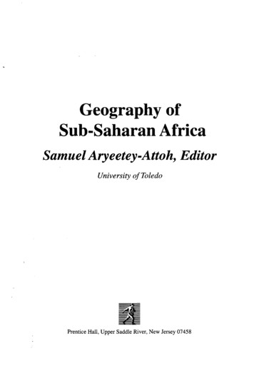 Geography of Sub-Saharan Africa - Semantic Scholar