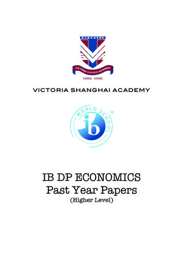 IB DP ECONOMICS Past Year Papers - Weebly